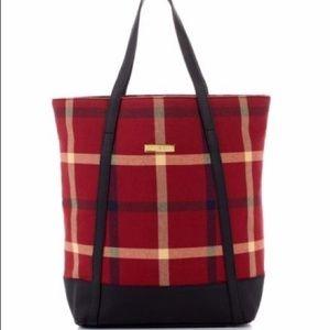 EUC -Joy and Iman Red Plaid Shoulder Bag